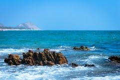 Krajobrazowy widok Goa morza plaża India Azja fotografia royalty free