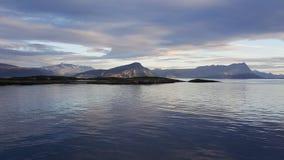 Krajobrazowy widok od Bodo lofoten Fotografia Royalty Free