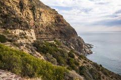 Krajobrazowy widok od Chapmans szczytu w Kapsztad Zdjęcie Stock