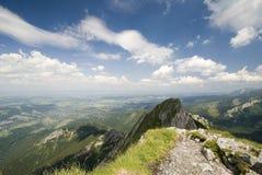 Krajobrazowy widok od Giewon, Tatrzańskiego, Polska Obraz Royalty Free