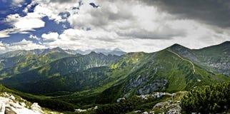 Krajobrazowy widok od Giewon, Tatrzańskiego, Polska Fotografia Stock