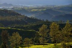 Krajobrazowy widok od giri szczytu, Indonesia obrazy stock