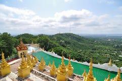 Krajobrazowy widok od Mandalay wzgórza Zdjęcie Royalty Free