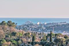 Krajobrazowy widok od Saint Paul De Vence, Francja Obraz Royalty Free