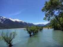 Krajobrazowy widok przy Jeziornym Wakatipu, Nowa Zelandia Obraz Stock
