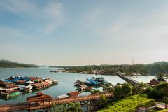 Krajobrazowy widok Sangklaburi obrazy royalty free