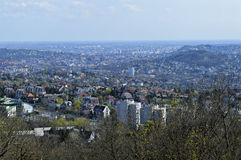 Krajobrazowy widok w Budapest mieście Obrazy Royalty Free