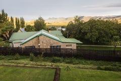 Krajobrazowy widok w wiosce Clarens, Południowa Afryka Fotografia Royalty Free