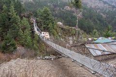Krajobrazowy widok wejście zawieszenie most obrazy royalty free