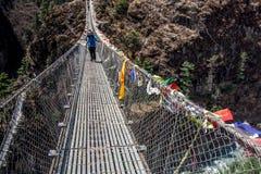 Krajobrazowy widok wejście zawieszenie most zdjęcia stock