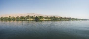 Krajobrazowy widok wielki rzeczny Nile w Egipt obraz stock