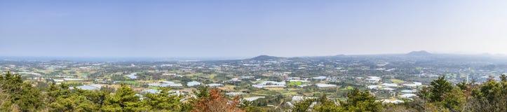Krajobrazowy widok z wierzchu Jeoji Oreum obrazy stock
