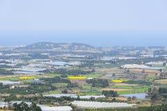 Krajobrazowy widok z wierzchu Jeoji Oreum fotografia royalty free