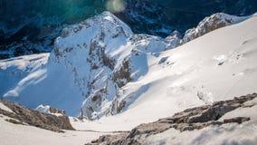 Krajobrazowy widok zachód strona Triglav góra Zdjęcia Stock