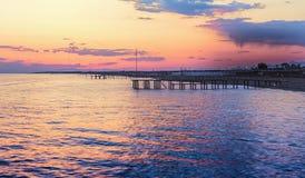 Krajobrazowy wieczór morze fotografia stock