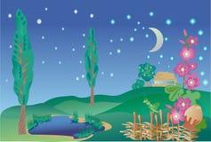krajobrazowy wiejski ilustracji