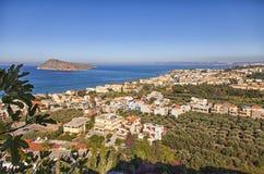 Ptaka oka widok Crete Grecja Obrazy Stock