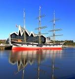 Krajobrazowy wysoki statek Glasgow obraz royalty free