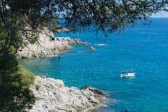 Krajobrazowy zachodniego wybrzeża Costa Brava Fotografia Royalty Free