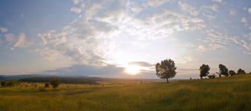 krajobrazowy zmierzch Zdjęcie Stock