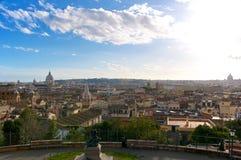 Krajobrazowa Roma Pincio Veduta panorama Włochy Zdjęcia Stock