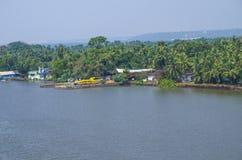 Krajobrazowy Zuari rzeczny India Zdjęcia Royalty Free