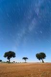 Krajobrazu i gwiazd ślad Obraz Royalty Free