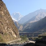 krajobrazu Nepalu Obrazy Stock