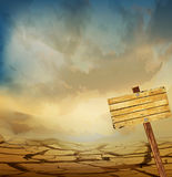 krajobrazu pustynny wektor Obrazy Royalty Free