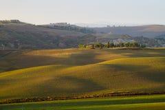 krajobrazu Tuscan Piękny Toskański ranek Fotografia Stock