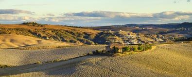 krajobrazu Tuscan Piękny Toskański ranek Obrazy Royalty Free