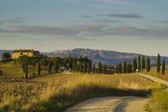 krajobrazu Tuscan Piękny Toskański ranek Zdjęcie Royalty Free