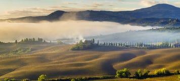 krajobrazu Tuscan Piękny Toskański ranek Obraz Royalty Free