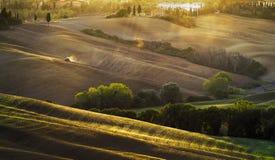 krajobrazu Tuscan Piękny Toskański ranek Fotografia Royalty Free