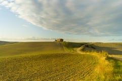 krajobrazu Tuscan Piękny Toskański ranek Zdjęcie Stock