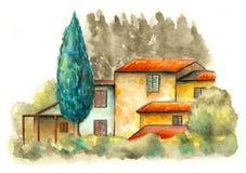 krajobrazu wiejskiego royalty ilustracja