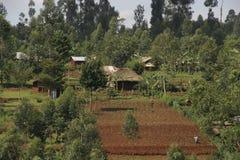 krajobrazu wiejskiego afryki Zdjęcia Stock