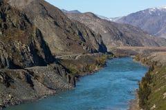 Krajobrazy Altai góry, Altai republika, Rosja Natura Obraz Stock