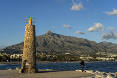 Krajobrazy Costa Del Zol, Marbella w prowinci Mlaga Obraz Royalty Free
