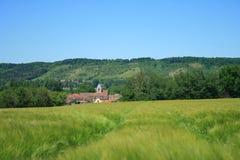 Krajobrazy Francja: Limetz-Villez Obraz Stock
