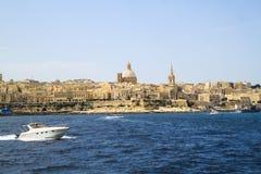 Krajobrazy los angeles Valletta od łodzi Obraz Royalty Free