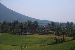 Krajobrazy między Bandung i Kroya Obrazy Royalty Free