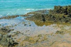 Krajobrazy plaża przy półwysepem De Marau fotografia stock
