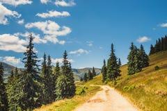 Krajobrazy Rodna góry w wschodnich Carpathians, Romania zdjęcie stock