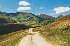 Krajobrazy Rodna góry w wschodnich Carpathians, Romania zdjęcia stock