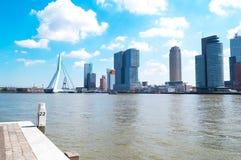 Krajobrazy Rotterdam i architektury obrazy stock