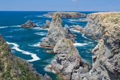 Krajobrazy sławny miejsce - Aiguilles De port Zdjęcie Stock
