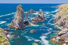 Krajobrazy sławny miejsce - Aiguilles De port Obraz Royalty Free