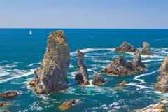 Krajobrazy sławny miejsce - Aiguilles De port Zdjęcia Royalty Free