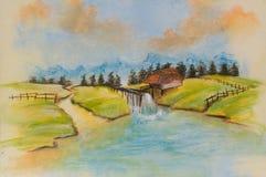 Krajobrazy, sztuka produkt Obrazy Stock